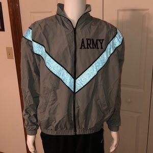 Vintage Army Reflective Windbreaker Jacket